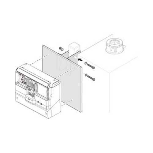 Buderus Montageplatte quadratisch f. Regelung