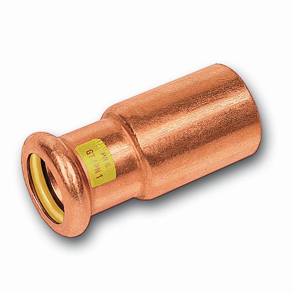 SANHA Gas-Pressfitting Absatznippel Cu 10243