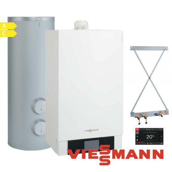 Viessmann Vitodens 200-W B2HB562 13kW Gastherme, 300L Vitocell 100-B, CVE
