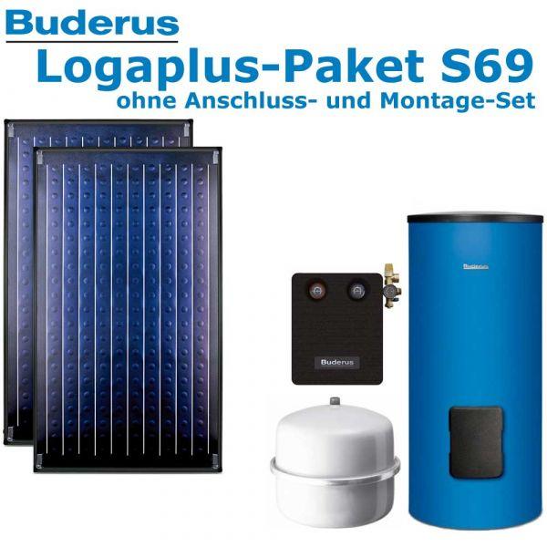 Buderus Logaplus Paket S69 mit 4,74m², blau, 2 SKN4.0-s-oM, SM300, SM100