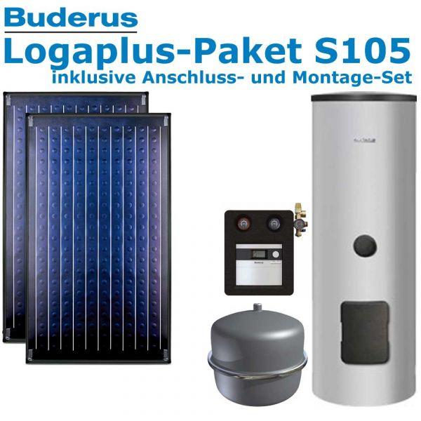 Buderus Logaplus Paket S105 mit 4,74m², 2 SKN4.0-AD, ESM300, SC20/2