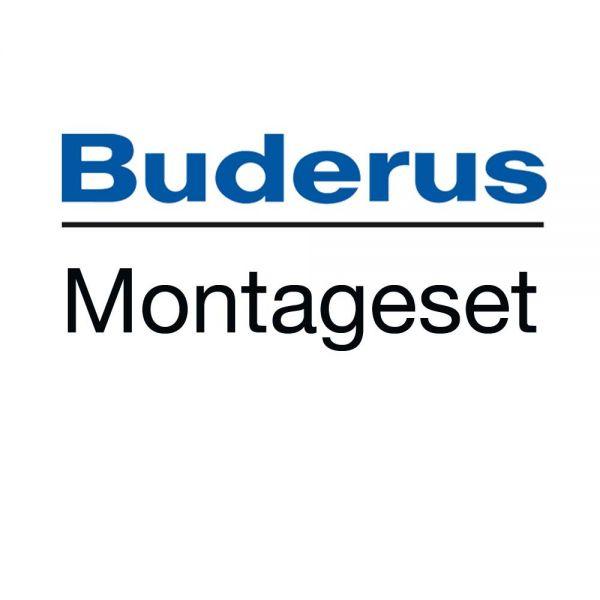 Buderus Montageset Flachdach für 3 x SKN4 + Anschluss-Set + Beschwerungswannen