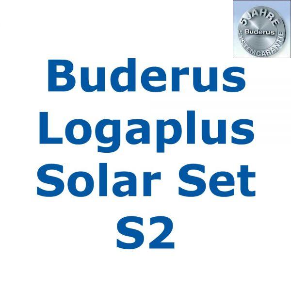 Buderus Logaplus Solar Set S2 mit 3 x SKN4.0-oM + SM300-W + SC20/2