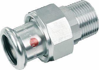 SANHA-Therm Pressfitting Verschraubung C-Stahl 24333