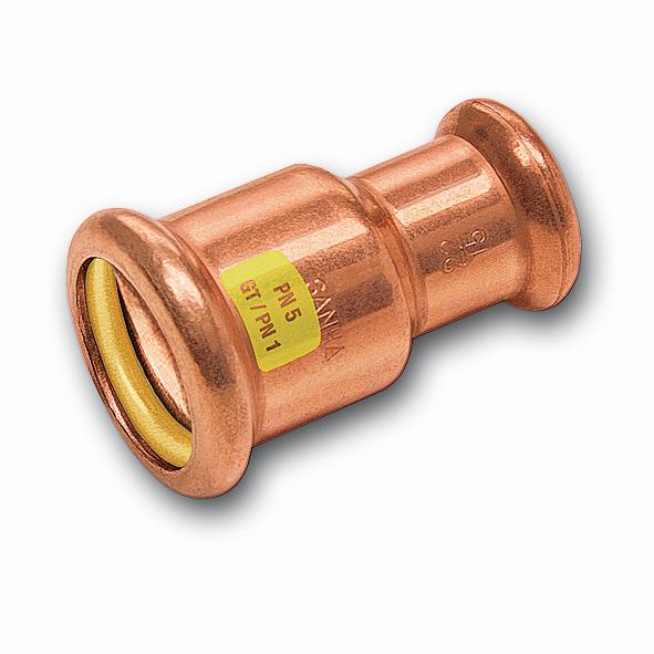 SANHA Gas-Pressfitting Reduziermuffe Cu 10240