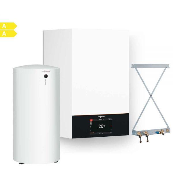 Viessmann Vitodens 300-W B3HF040 32kW Brennwertpaket mit Vitocell 300-W, EVIA-A 200L