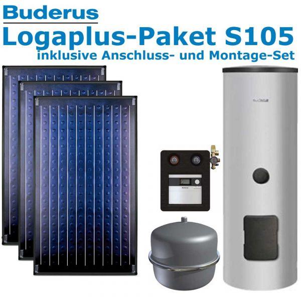 Buderus Logaplus Paket S105 mit 7,11m², 3 SKN4.0-AD, ESM300, SC20/2