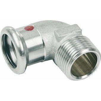 SANHA-Therm Pressfitting Bogen 90° C-Stahl 24092