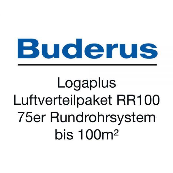 Buderus Logaplus Luftverteilpaket RR100 75er Rundrohrsystem bis 100m²