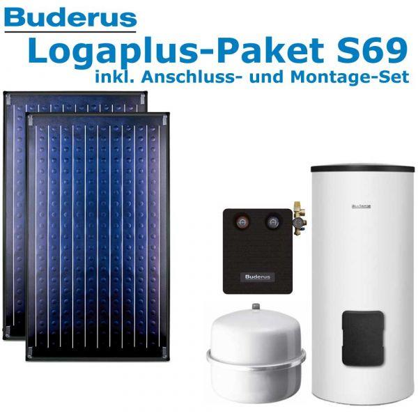 Buderus Logaplus Paket S69 mit 4,74m², weiß, 2 SKN4.0-s-AD, SM300, SM100