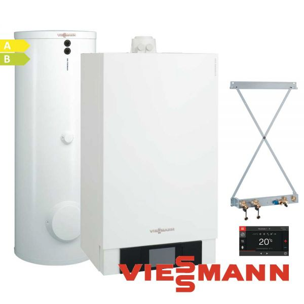 Viessmann Vitodens 200-W B2HB144 19kW Gastherme, 300L Vitocell 100-W, CVBB