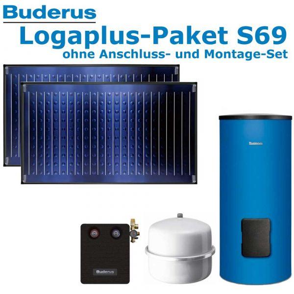 Buderus Logaplus Paket S69 mit 4,74m², blau, 2 SKN4.0-w-oM, SM300, SM100