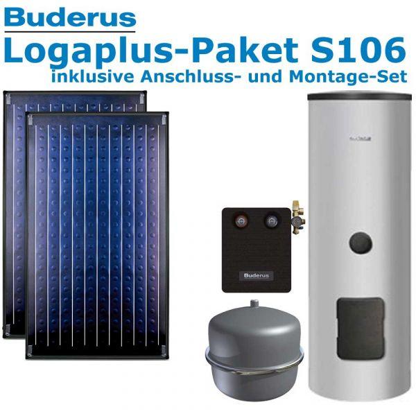 Buderus Logaplus-Paket S106 mit 4,74m², 2 SKN4.0-AD, ESM300, SM100