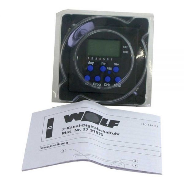 Wolf 2-Kanal Digitalschaltuhr PM2931 für R11, R12, R16, R18 2791025