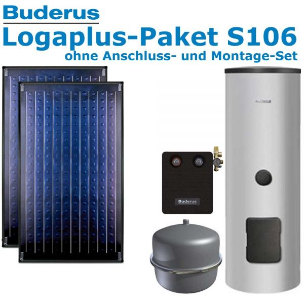 Buderus Logaplus-Paket S106 mit 4,74m², 2 SKN4.0-oM, ESM300, SM100