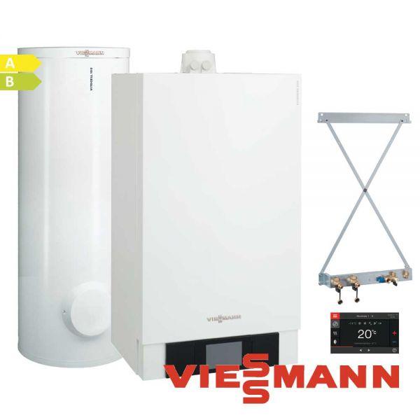 Viessmann Vitodens 200-W B2HB120 13kW Gastherme, 160L Vitocell 100-W, CVA